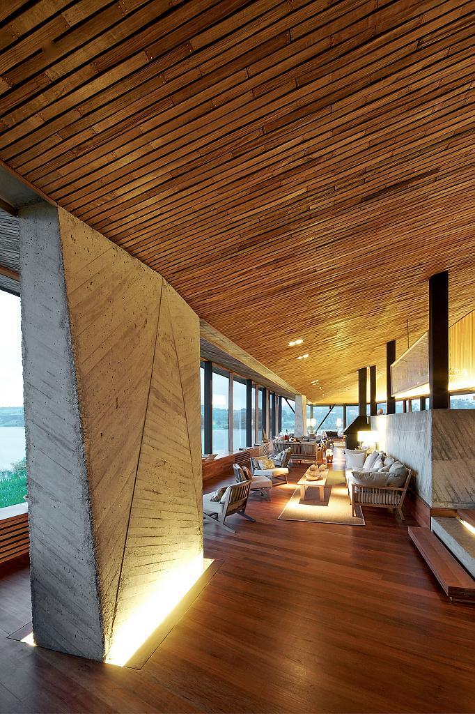 Дизайн интерьера отеля Refugia, Чили